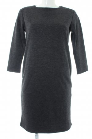 Uniqlo Sweater Dress anthracite flecked casual look
