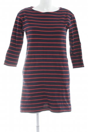 Uniqlo Sweater Dress dark blue-bright red striped pattern casual look
