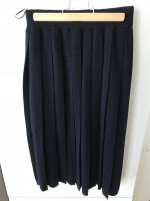 Uniqlo Jupe plissée bleu foncé laine