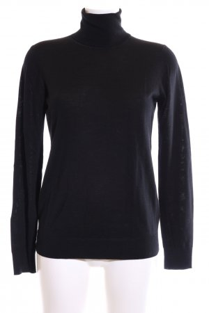 Uniqlo Rollkragenpullover schwarz Business-Look