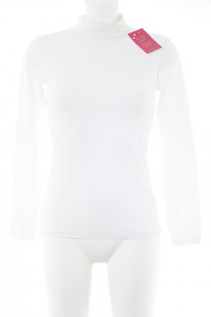 Uniqlo Jersey de cuello alto blanco look casual