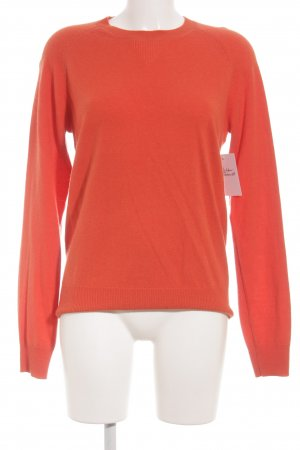 Uniqlo Rundhalspullover neonorange Casual-Look