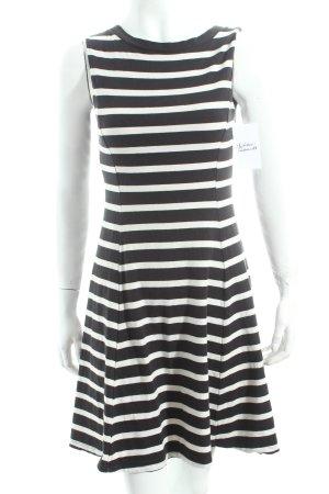 Uniqlo Shirtkleid weiß-schwarz Streifenmuster Casual-Look