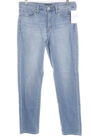 Uniqlo Slim Jeans stahlblau schlichter Stil