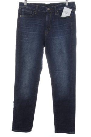 Uniqlo Straight-Leg Jeans dunkelblau klassischer Stil