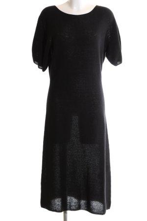 Uniqlo Gebreide jurk zwart casual uitstraling