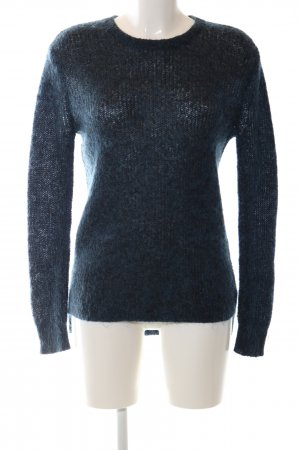 Uniqlo Strickpullover blau meliert Casual-Look
