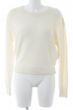 Uniqlo Strickpullover creme Casual-Look