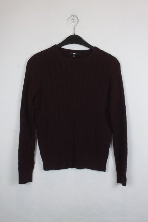 Uniqlo Cable Sweater brown red