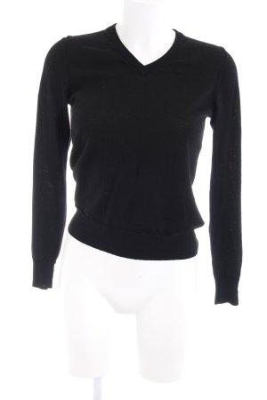 Uniqlo Strickpullover schwarz schlichter Stil