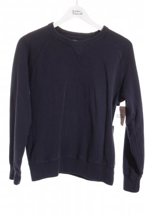 Uniqlo Felpa blu scuro stile casual