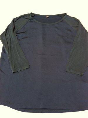 UNIQLO T-Shirt mit dreiviertel Arm, Gr. XL, dunkelblau, wie NEU