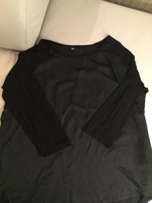 UNIQLO T-Shirt mit dreiviertel Arm, Gr. XL, schwarz, wie NEU