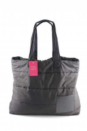 Uniqlo Tote schwarz Steppmuster Casual-Look