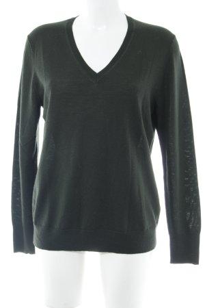 Uniqlo V-Ausschnitt-Pullover waldgrün Casual-Look