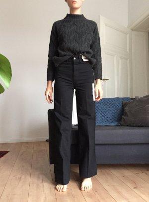 Uniqlo Pantalon taille haute noir coton