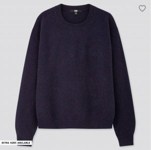 Uniqlo Wollpullover blau Casual-Look