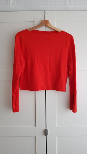 Uniqlo Wollpullover cropped S rot