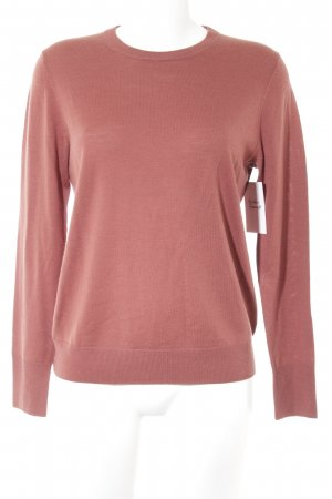 Uniqlo Wollpullover rostrot Casual-Look