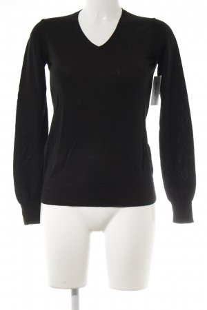 Uniqlo Wollpullover schwarz Casual-Look
