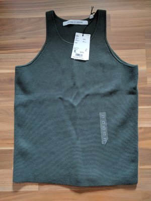 Uniqlo x Lemaire Stricktop Tanktop Stretch khaki oliv Blogger Baumwolle