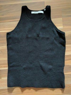 Uniqlo x Lemaire Stricktop Tanktop Stretch schwarz Blogger Baumwolle