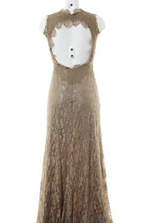 Unique Abendkleid braun Elegant