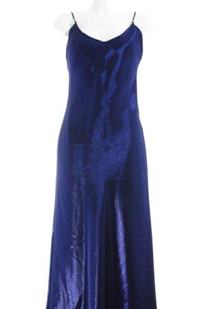 Unique Abendkleid blau Glanz-Optik