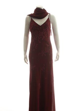 Unique Abendkleid bordeauxrot Eleganz-Look