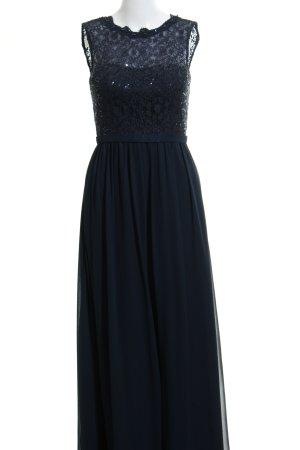 Unique Abendkleid dunkelblau Paillettenverzierung