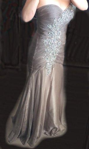 Unique Abendkleid - Farbe Taupe - Größe 42