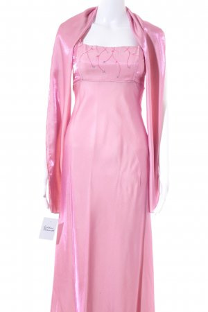 Unique Abendkleid rosa-pink florales Muster Elegant