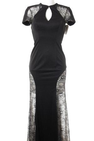 Unique Abendkleid schwarz-creme Elegant