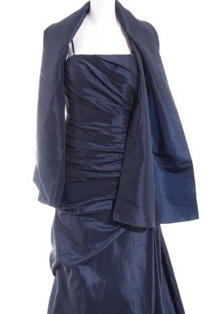 Unique Vestido de baile azul oscuro elegante