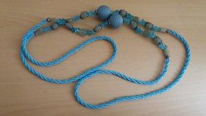 Necklace multicolored mixture fibre