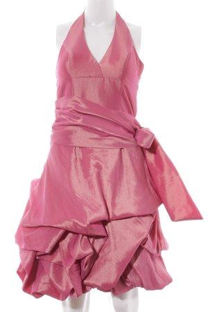 Unique Cocktailkleid rosa Glanz-Optik