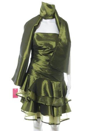 Unique Etuikleid olivgrün Elegant