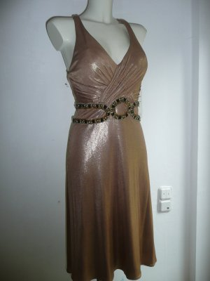 Unique Eyecatcher Abendkleid Cocktailkleid gold Gr S 36