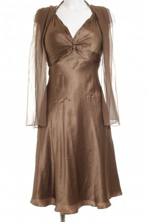 Unique Neckholderkleid bronzefarben Elegant