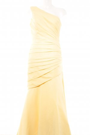 Unique One-Shoulder-Kleid gelb extravaganter Stil