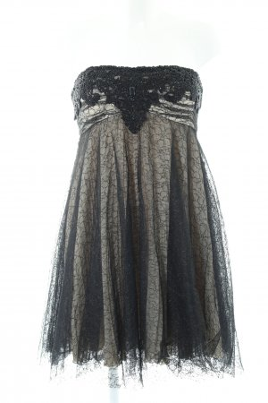 Unique Spitzenkleid schwarz-wollweiß Elegant