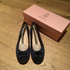 Unis Ballerinas blau mit Blume Gr. 41 top Zustand