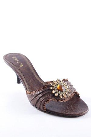 Unisa Absatz Pantoletten bronzefarben-goldfarben Elegant