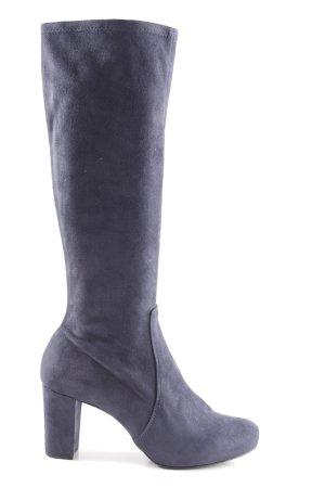 Unisa Absatz Stiefel blau Business-Look