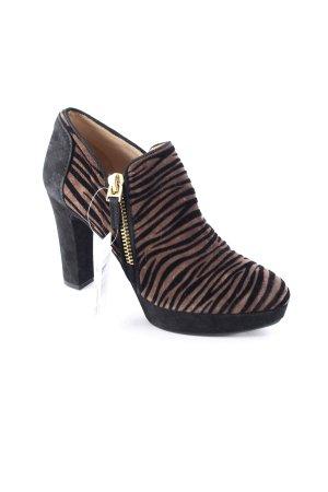 Unisa Ankle Boots braun-schwarz Animalmuster extravaganter Stil