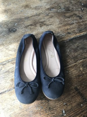 Unisa Foldable Ballet Flats steel blue leather
