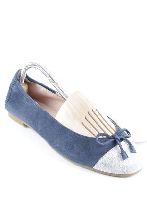 Unisa Ballerinas mit Spitze blau-silberfarben Elegant