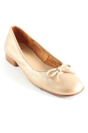 Unisa Ballerinas mit Spitze goldfarben-braun Elegant