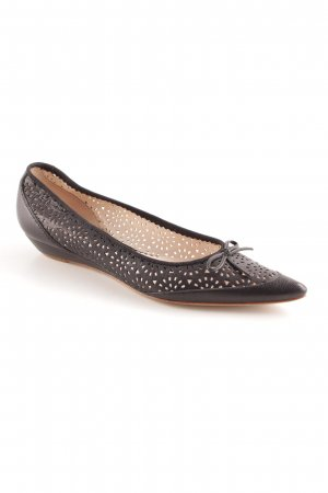 Unisa Ballerinas with Toecap black elegant