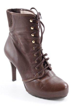 Unisa Booties dark brown casual look